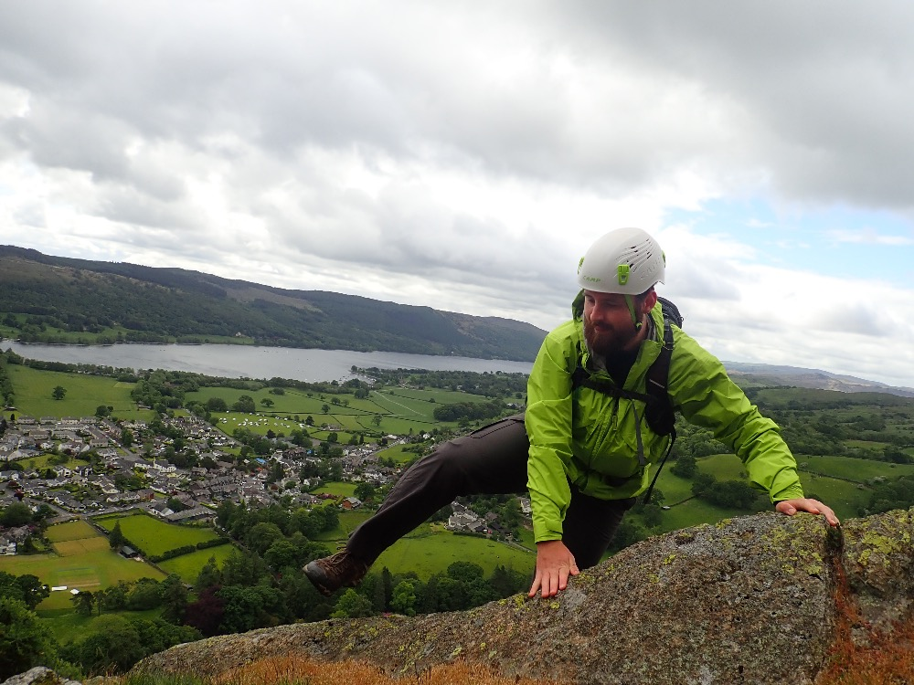 Scrambling On Long Crag Buttress